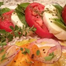 Tomato Mozzarella Salad with fresh herbs